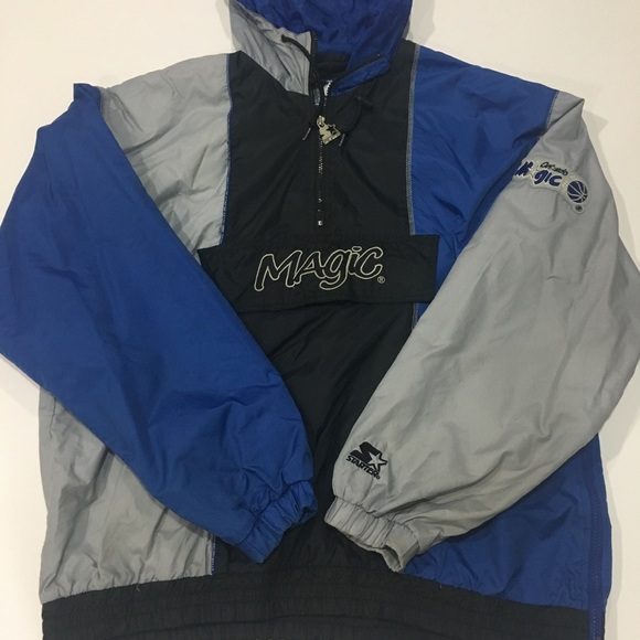 f58d834414d Vintage Starter Orlando Magic Windbreaker Size L. M 5beacb867386bc3a2a9a4328